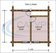 Проект Борок - План 2 этажа